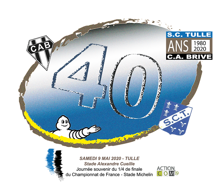 LOGO OFFICIEL 40 ANS MATCH TULLE BRIVE 1