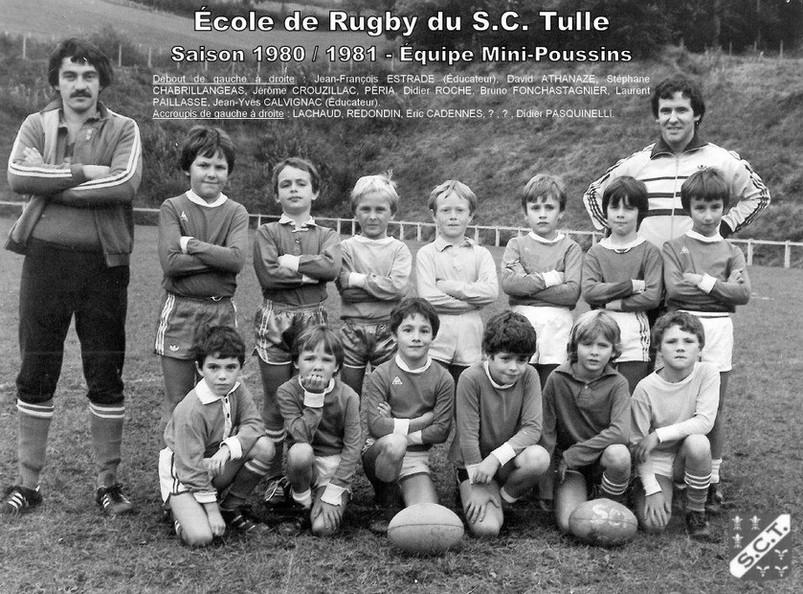 MINIS-POUSSINS ECOLE DE RUGBY 1980 1981.j