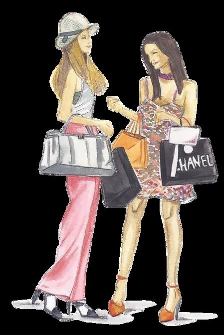 ilustración compras en Madrid
