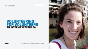 'Volunteering for Volunteers': An Interview with Lea, AFE's Recruitment Coordinator!