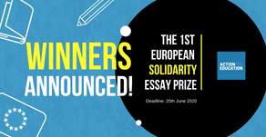 Winners announced for Action For Education's 1st European Solidarity Essay Prize