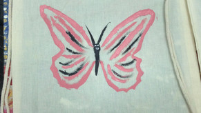 How to make a butterfly on a bag. By Suzan.