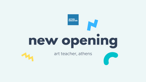 Job Opening: Art Teacher for Young Children and their Parents