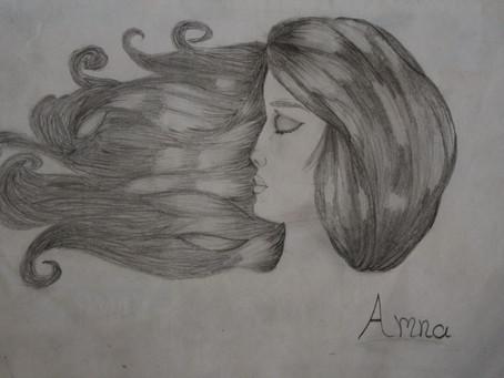 Art by Amna . رسم امنة