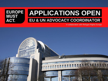 Call for Applications: EU and UN Advocacy Coordinator