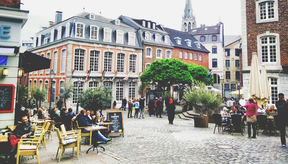 Belle Cobblestone européenne place