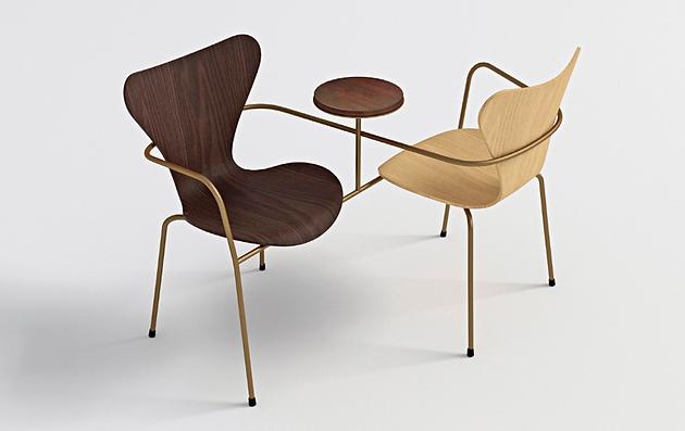 Simple tanto che famosi architetti hanno voluto rendere omaggio alla sedia e al suo designer - Sedie di design famosi ...