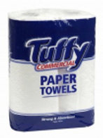 Tuffy Commercial 2Ply Paper Towel (2 rolls x 60 sheets - 22.8cm x 27.0cm)