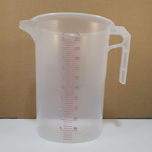 Calibrated measuring jug 5L