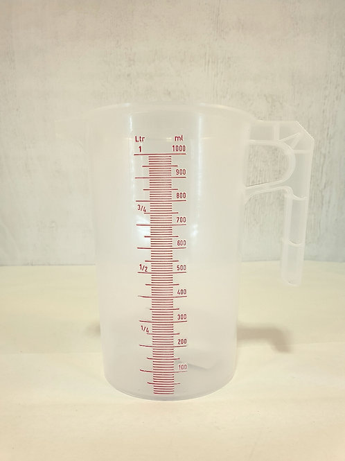 Calibrated measuring jug 1L