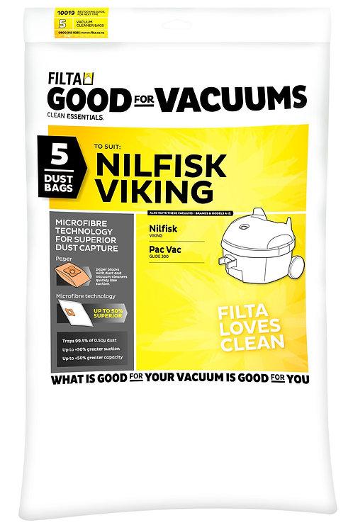 Nilfisk Viking & Pac Vac Glide 300 Microfibre Bags 5 pack