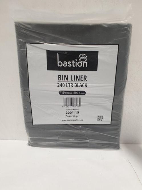 Bastion Bin Liner Black - 240L (25 bags)