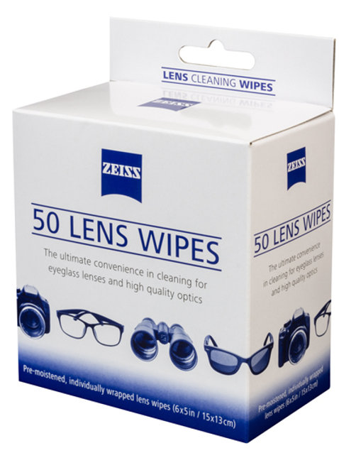 Zeiss Lens Wipes - 50 pack (ZZWIPES - Box)