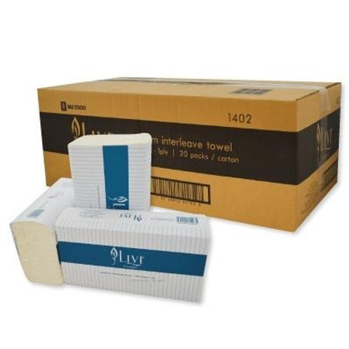 Livi slim line paper towels (20 packs x200 sheets/4000 sheets total)