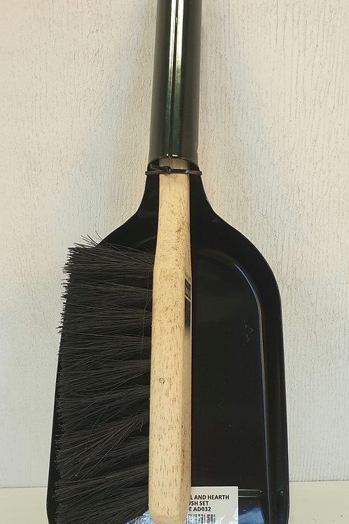 Fireside Steel Shovel & Hearth Brush Set