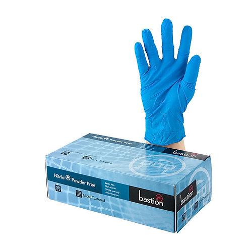Bastion Nitrile Soft Blue P/F Gloves