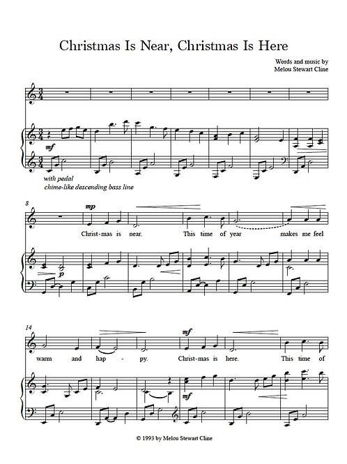 Christmas Is Near Sheet Music