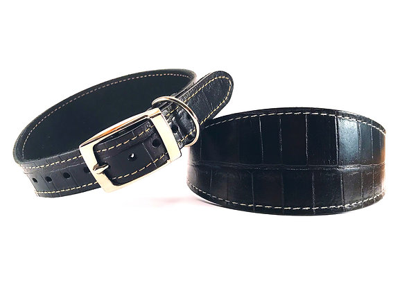Greyhound Leather Lined Collar 'Dundee'