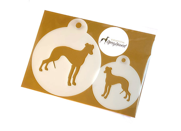 Greyhound Coffee and Cupcake Stencils