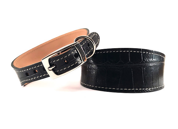 Whippet Leather Lined Collar 'Dundee'