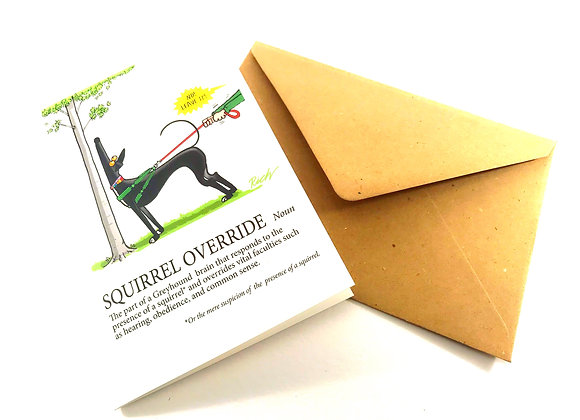 Squirrel Override Greetings Card Rich Skipworth