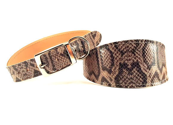 Greyhound Leather Lined Collar 'Sidney'