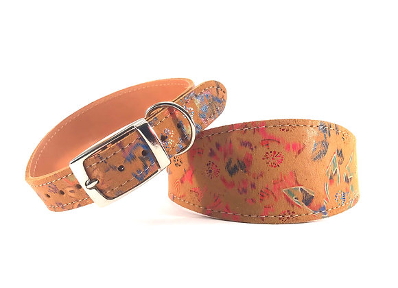 Greyhound Leather Lined Collar 'Pocahontas'