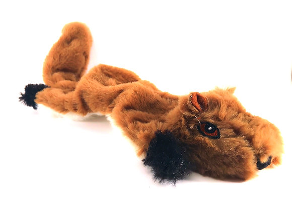 Stuffingless Squirrel Dog Toy With Squeaker