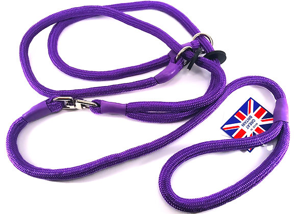 KJK Braided Brace Slip Lead With Swivel - Control 2 Dogs