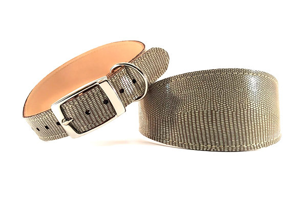 Greyhound Leather Lined Collar 'Lustre'