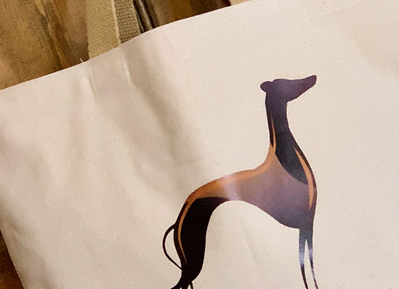 Greyhound Cotton Canvas Tote Bag - Large