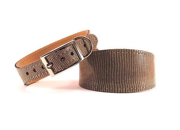 Whippet Leather Lined Collar 'Lustre'