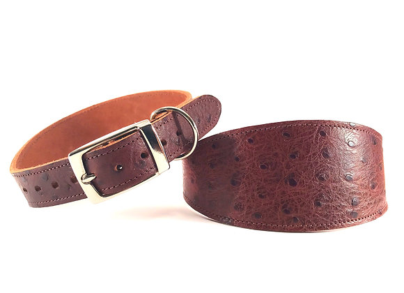 Greyhound Leather Lined Collar 'Oakley'