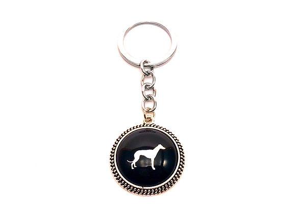 Antique Silver Greyhound Keyring