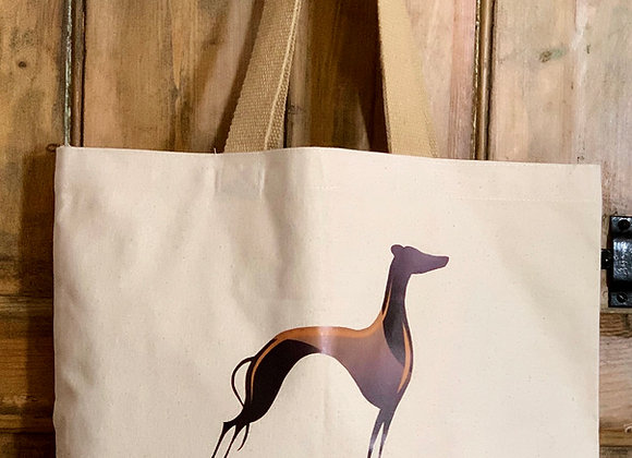 Greyhound Cotton Canvas Tote Bag - Extra Large