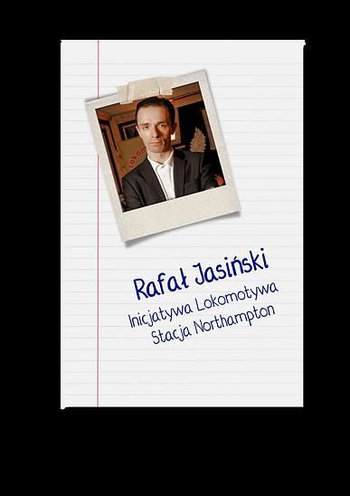 Rafał Jasiński - prezes i współzałożyciel Inicjatywy Lokomotywa - Stacja Northampton.