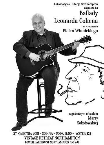 Plakat - Ballady Leonarda Cohena
