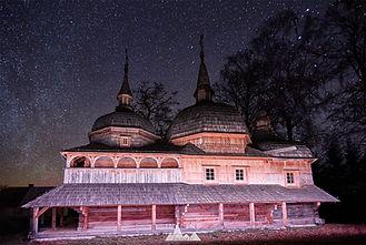 Odrestaurowa Cerkiew św. Paraskewy w Nowym Bruśnie, gimna Horyniec-Zdrój