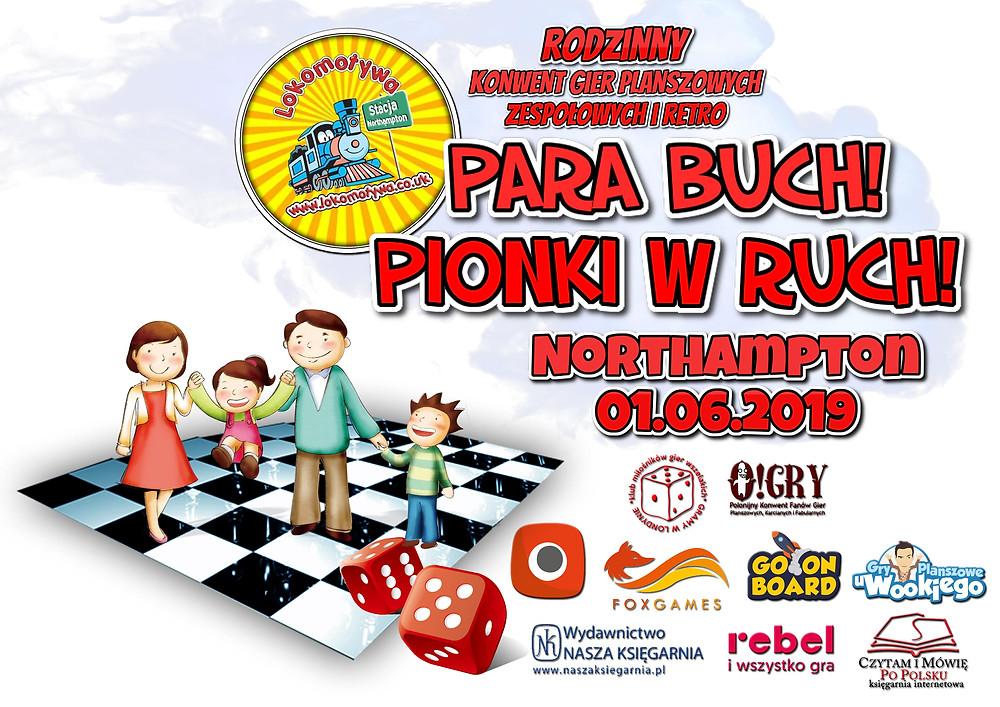 Para buch! Pionki w ruch! - zapraszamy na rodzinny konwent gier planszowych, zespołowych i retro!