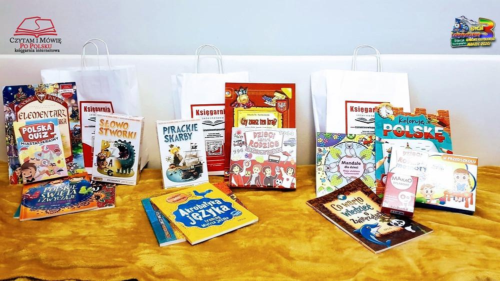 Zestawy książkowe, gry i quizy dla Zdobywców Nagród Publiczność!