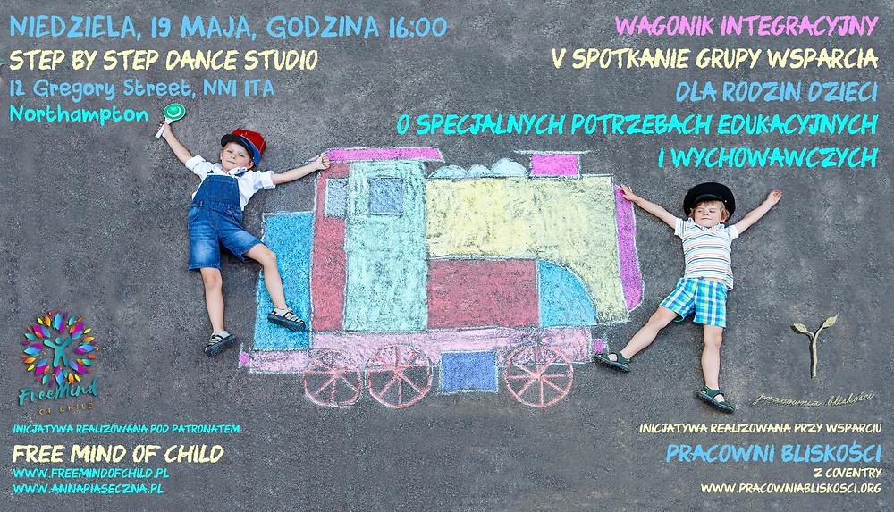 Wagonik Integracyjny - przed nami V Spotkanie grupy wsparcia rodzin dzieci o specjalnych potrzebach!
