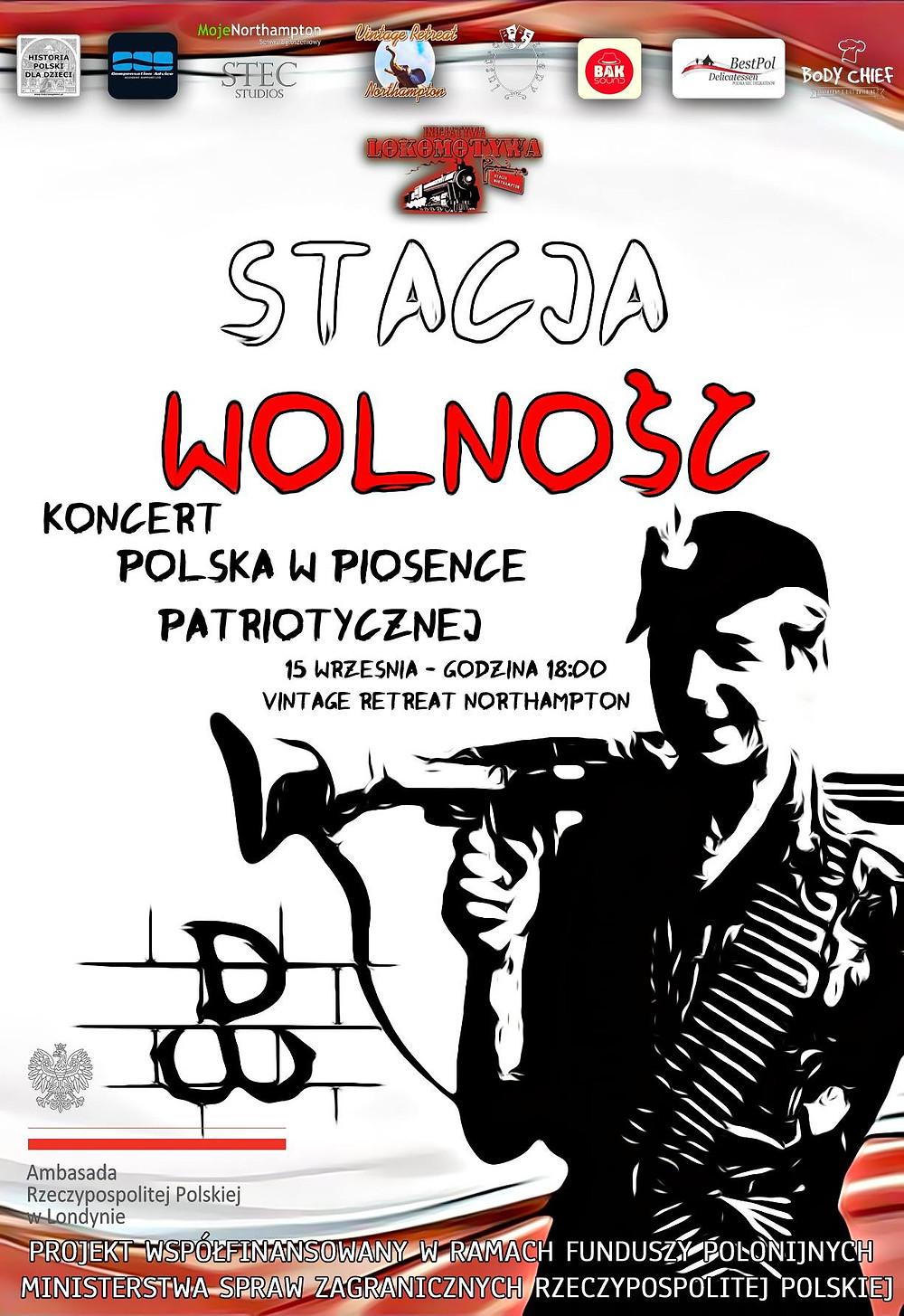 """Stacja Wolność - koncert """"Polska w piosence patriotycznej"""" - plakat 2"""