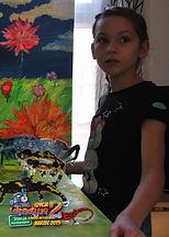 """Marysia, 10 lat, z wierszem """"Grzyby"""" Jana Brzechwy"""