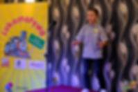 """II miejsce – Tristan Olesiak, lat 12 za występ z wierszem """"Paweł i Gaweł"""" Aleksandra Fredry"""