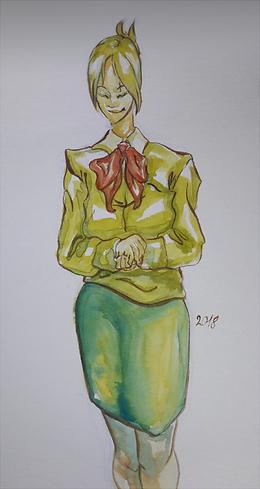 """Ilustracja do wiersza """"Nasza Pani"""", Diana Borowska"""