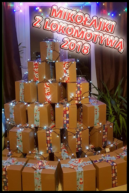 Choinka z prezentów - Mikołajki z Lokomotywą 2018