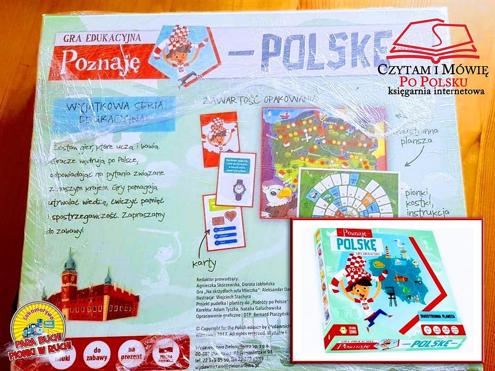 """Edukacyjna gra planszowa """"Poznaję Polskę"""" od naszego stałego Sponsora - księgarni Czytam i Mówię Po Polsku!"""