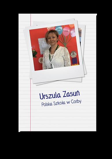 Urszula Zasuń - polonistka, pedagog