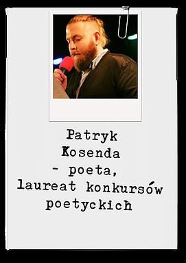 Patryk Kosenda - poeta, publicysta, laureat konkursów poetyckich