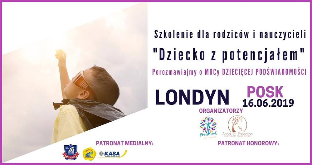 """Lokomotywa patronem szkolenia """"Dziecko z Potencjałem"""" - Londyn, 16 czerwca 2019!"""